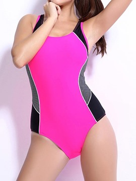 Ericdress Color Block Back Hollow Monokini