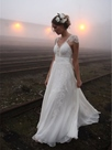 Ericdress Charming V Neck Backless Wedding Dress