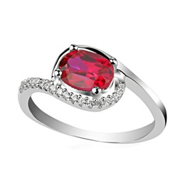 Ericdress Noble Red Gemstone Ring