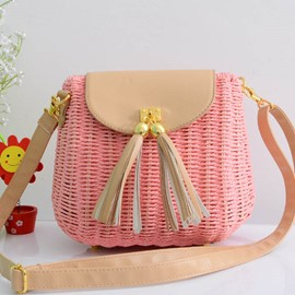 Ericdress Bohemian Straw Crossbody Bag