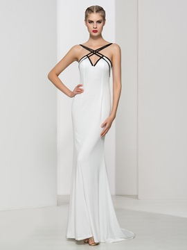 Ericdress Criss-Cross Straps Backless Morden Evening Dress