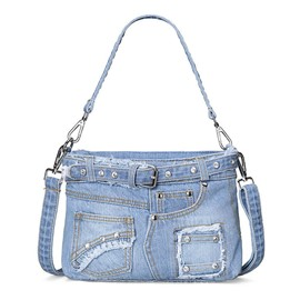 Ericdress Casual Diamante Shorts Design Denim Handbag