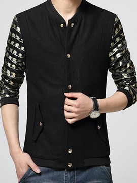 Ericdress Thin Stand Collar Slim Men's Jacket