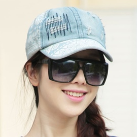 Ericdress Casual Ripped Denim Cap