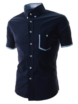 Ericdress Short Sleeve Polka Dots Elegant Men's Shirt