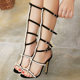 Ericdress Beading Buckles Stiletto Sandals