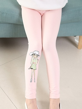 Ericdress Cartoon Print Girls Leggings