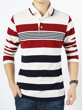 Ericdress Stripe Casual Men's T-Shirt