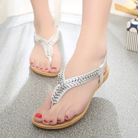 Ericdress Metal Sequins Flat Sandals