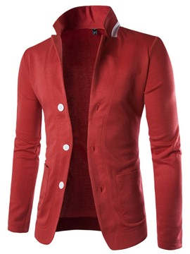 Ericdress Slim Color Block Collar Men's Blazer