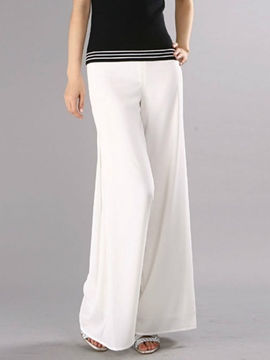 Ericdress Solid Color Wide Legs Pants