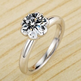 Ericdress Classic Diamond Ring For Women