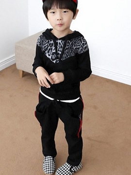 Ericdress Leopard Hooded Boys Outfit