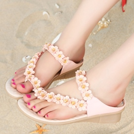 Ericdress Sweet Flower Flat Sandals