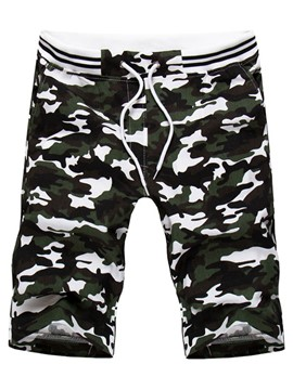 Ericdress Lace-Up Casual Camouflage Men's Shorts