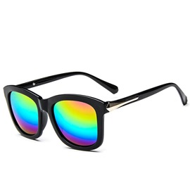 Ericdress Vintage Iridescent Reflective Sunglasses
