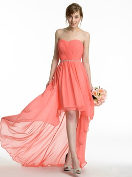 Ericdress Beautiful Asymmetry Chiffon Bridesmaid Dress