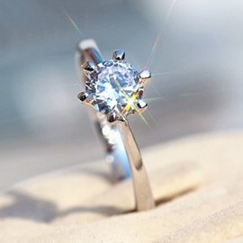 Ericdress Crown Design Zircon Ring