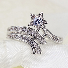 Ericdress Lastest Meteor Zircon Ring