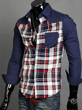 Ericdress Plaid Casual Men's Shirt