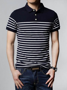 Ericdress Stripe Short Sleeve Summer Men's T-Shirt