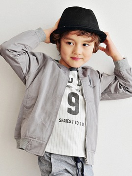 Ericdress Plain Loose Boys Jacket