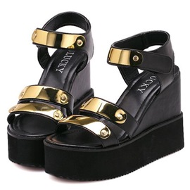 Ericdress Metal Decorated Wedge Sandals