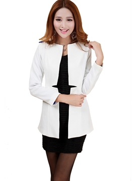 Ericdress Solid Color Patchwork Blazer
