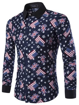 Ericdress The National Flag Printed Vogue Men's Shirt