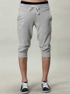 Ericdress Plain Casual Cotton Blends Men's Pants