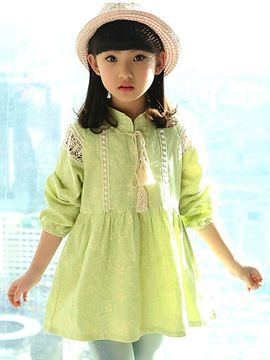 Ericdress Stand Collar Girls Dress