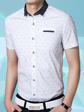 Ericdress Short Sleeve Printed Vogue Summer Men's Shirt