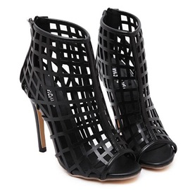 Ericdress Top Quality Black Hollow Out Stiletto Sandals