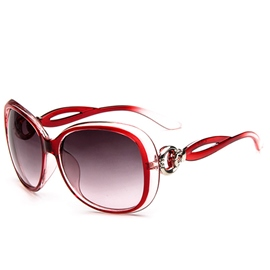 Hollow Out Frame Big Frame Sunglasses