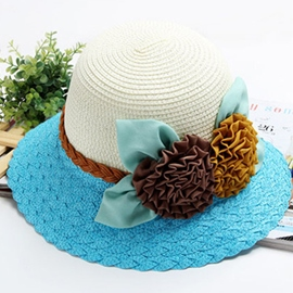 Ericdress Chic Flower Straw Sunhat