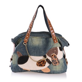 Ericdress Korean Patchwork Denim Handbag