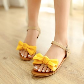 Ericdress Sweet Bowtie Flat Sandals