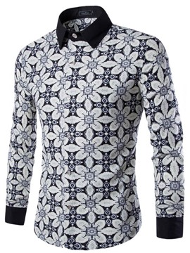 Ericdress Long Sleeve Vogue Printed Men's Shirt