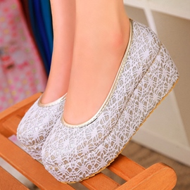 Ericdress Lace Round Toe Wedges