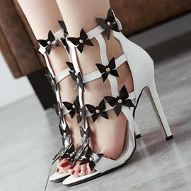Ericdress Butterfly Patchwork Stiletto Sandals