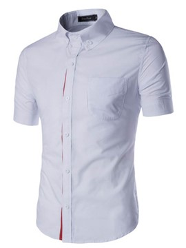 Ericdress Short Sleeve Slim Summer Men's Shirt
