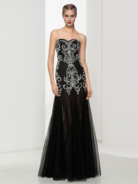 Ericdress Sweetheart Beading Sequins Evening Dress
