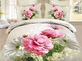 Ericdress Flowers Blossoming Print 3D Bedding Sets