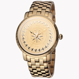 Gold Quartz Strip Waterproof Watch