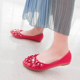 Ericdress Lovely Flower Decorated Flats