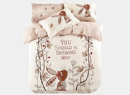 Ericdress Alice's Secret Cartoon Print Cotton Bedding Sets