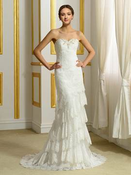 Ericdress Fancy Sweetheart Sheath Wedding Dress