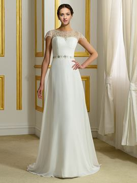Ericdress Beautiful Beading A Line Chiffon Wedding Dress