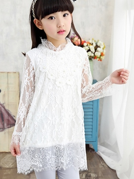 Ericdress Plain Lace Girls T-Shirt