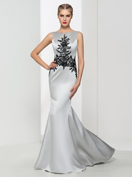 Ericdress V Back Appliques Mermaid Evening Dress